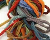 10 ea Marrakesh Bundle Fairy Ribbon Hand Dyed Necklace Cord Silk Neck Cord