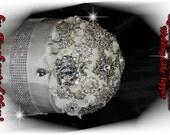 Wedding Rhinestone Brooch Crystal Cake Topper