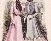 1899 Double sided Womens Fashion Print
