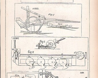 1856 Patents of Farm Equipment
