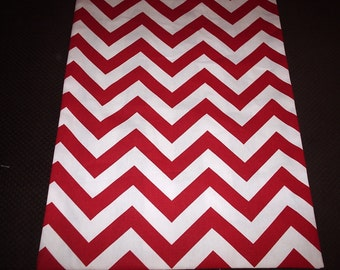 Red and White Chevron Table Runner