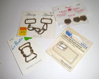 Metal Buckles - Sewing Notions - Zipper Pulls - Sewing Supplies - Sewing Hardware