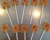 Game Tile inspired square lollipops  - MADE TO ORDER