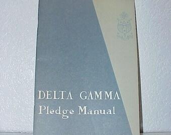 1964--RARE--Delta Gamma--Pledge MANUAL--Soft Cover--Delta Gamma History--Hard To Find