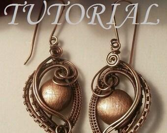 Wire Wrap TUTORIAL, Wire Wrapped Earrings, The Elegant Ear, Wire Jewelry Pattern, Making Wire Jewelry