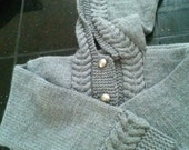 Hooded Cabled Jacket Cardigan,  Size 6, Unisex