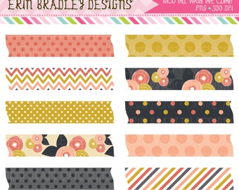 Mod Fall Washi Tape Clipart Clip Art Personal Commercial Use INSTANT DOWNLOAD