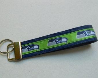 Seattle Seahawks Wristlet Key Fob, Keychain