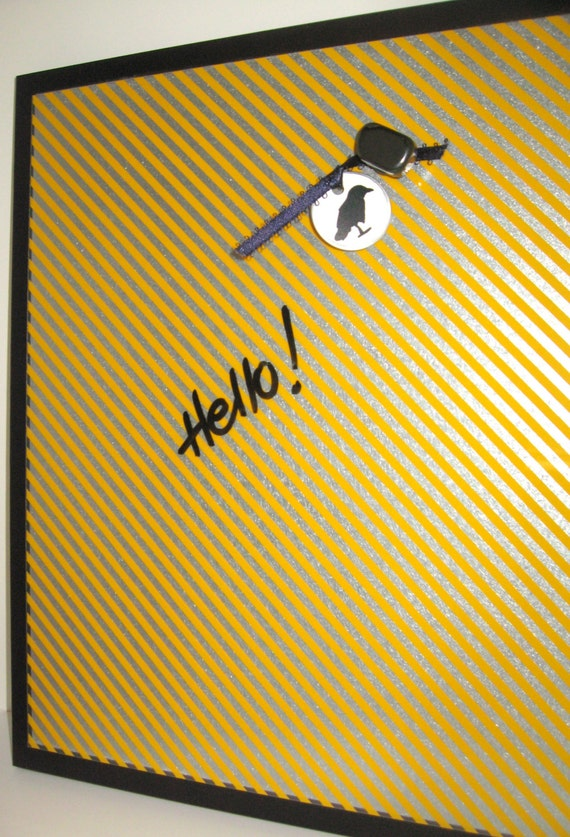 Glow ..Magnet Dry Erase Memo Board / Housewarming Gift / Office Decor / Organization / Desk Accessories / Message Board / Wall Decor / Memo