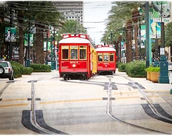 Canal Street Streetcars -  Fine Art Print - New Orleans
