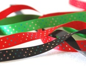 Satin colourfull Polka dot ribbon 15mm wide - FEANORcrafts