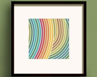 Zen Earth No.2 - Square Giclee Print