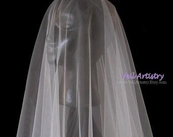 Short Wedding Veil, Simplicity Veil, Drop Veil, 2 Tier Veil, Crystal Bead Edge Veil, Fingertip Veil, Made-to-Order Veil, Bespoke Veil