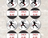 PRINT & SHIP Ninja Karate Birthday Party Cupcake Toppers (set of 12) >> personalized and shipped to you <<