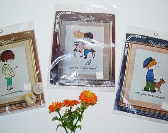 Vintage Moppets Creative Stitchery Kit........Three Sets