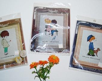 Vintage Moppets Creative Stitchery Kit........Three Sets