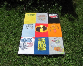 Make a Memory Quilt out of your Childs Clothing or Tshirts