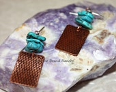 Nacozari Turquoise, Copper, and Sterling Silver Earrings