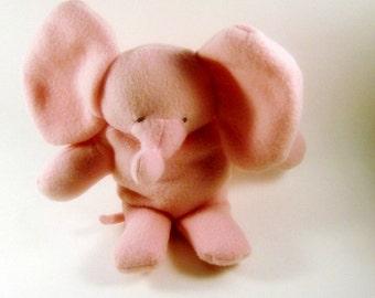 Pink  Seated Baby Elephant  Kids Stuffed Animal  Washable Soft Plush Toy Travel Toy