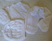 REDUCED PRICE Newborn Outfit. Warm  Hand Made  Baby  Suit. Hand Knitted  Newborn Four Pces.  Set