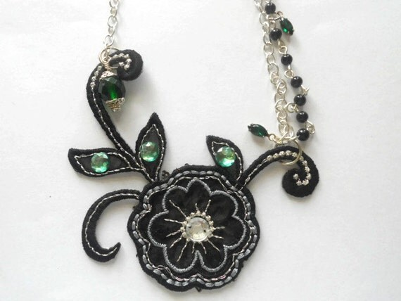 Black Beauty, Assemblage, Simply Shabby,  Double Chain