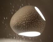 """Pendant Lamp: 13"""" Claylight Pendant Double Cut-"""