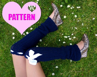 Leg Warmers Pattern - Crochet Tutorial - Over the Knee - Thigh High - Easy
