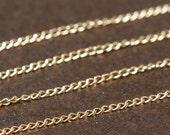 Gold Filled Chain Bulk -  Fine Curb Chain 1.1mm - SAVE 5 - 10% on Bulk Chain Lengths 5 to 12 feet