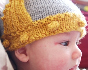 Winged Knit Helmet Hat for Babies
