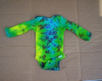 Tie Dye Baby Long Sleeve 0 to 3 Month