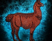 Epic Mocha Brown Llama Lama glama  Iron on Patch