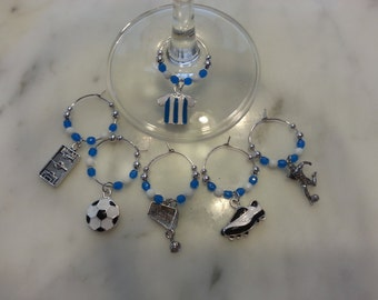 Argentina  Soccer Football fútbol Team Wine Charms