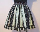 Floral Green Striped Lolita Jumper Skirt