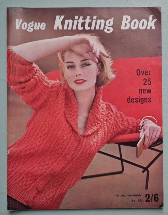 Vogue Vintage Knitting Patterns : VOGUE Knitting Book No 59 1961 Vintage 1960s by sewmuchfrippery