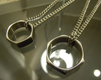 Stainless Steel Hexnut Ring on Chain