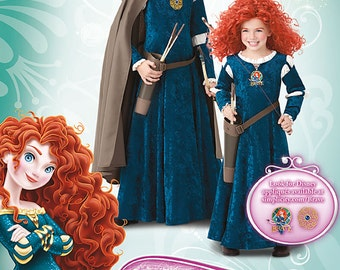MERIDA COSTUME PATTERN / Retired / Disney Princess / Brave / Halloween / Child 3 to 6