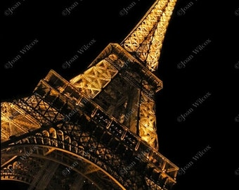 The Spectacular Eiffel Tower at Night, Paris, France Fine Art Photography Print