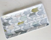 Large Arrow Tail Nesting Tray in Soft Tones - Made to Order