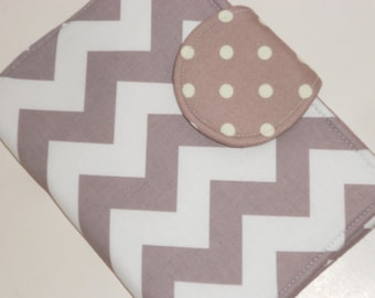 Kindle Paperwhite Cover Nook Glow Nexus 7 Kindle Fire HD 7 Grey Chevron Dot eReader Cover