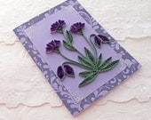 Paper Quilling Greeting Card Paper Quilled  Purple and Lavender  Heartflowers Birthday Congratulations  Handmade Australia