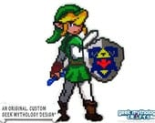 Link - Legend of Zelda Ocarina of Time - Custom Design Perler Bead Sprite