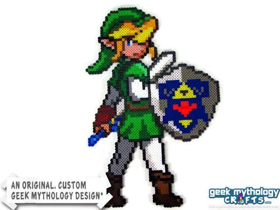 Link - Legend of Zelda Ocarina of Time - Custom Design Perler Bead Sprite