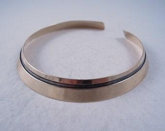 SALE ---- Vintage Ed Levin Sterling 14K Gold Vermeil Moderne Double Wide Collar Necklace