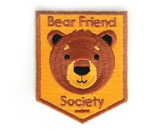 Bear Friend Society Iron On Patch