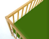 Gender Neutral Crib Sheet , Jersey Knit Sheet , Bumperless , Crib Bedding Green Cabbage Patch
