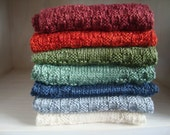 Hand Knit Bamboo Cherie Scarf- Many colour options