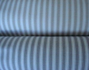 TICKING-Taupe/Ivory -Grey/Ivory- Citron / Ivory -Both Sides--Decorative Designer Pillows-Ticking Tan and Grey  Stripe Throw/Lumbar  Pillow