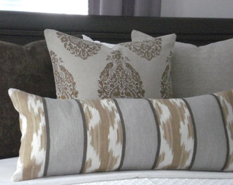 Bolster-KRAVET-Ranjani IKAT-Decorative DesignerPillow Cover- Rectangular Bolster  and Lumbars Both Sides