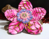 Polymer Clay Flower Pin or Pendant