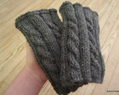RESERVED ITEM for Erin [heathered gray cable-knit boot cuffs]
